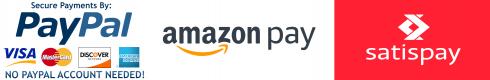 PaypalAmazonSatispay Logo